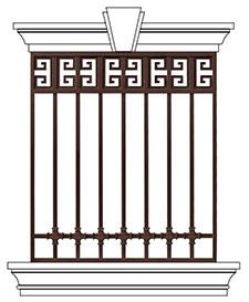 豪华别墅防护窗ST-HC-006