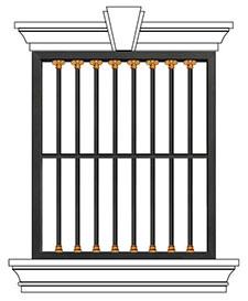 豪华别墅防护窗ST-HC-007