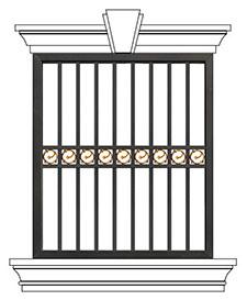 豪华别墅防护窗ST-HC-008