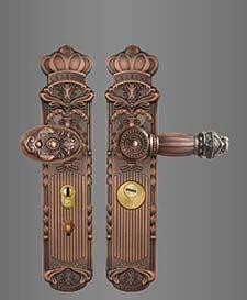 ST-B132镀铜双面活动拉手锁